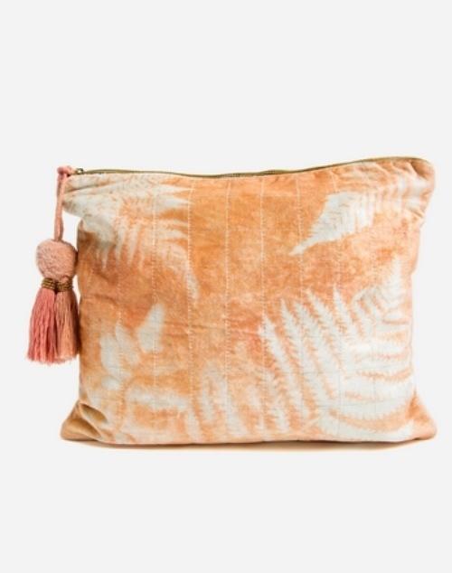 Copper Fern Oversized Pouch