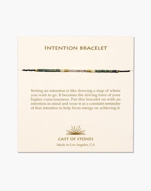 Micro Bead Intention Bracelet - Patina/Pink