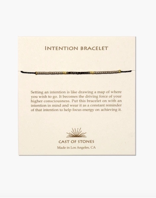 Micro Bead Intention Bracelet - Neutral/Gold