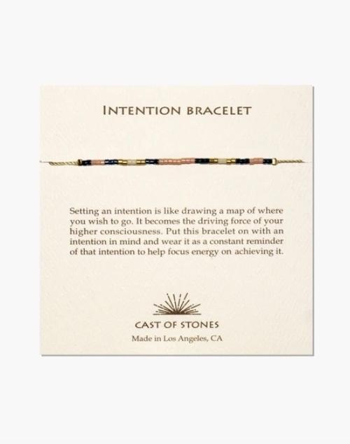 Micro Bead Intention Bracelet - Sweet Peach