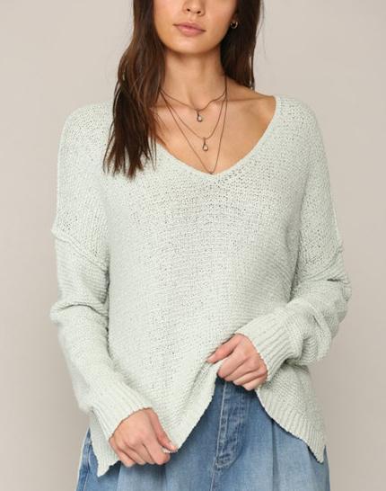 Lindsay V Neck Knit Sweater