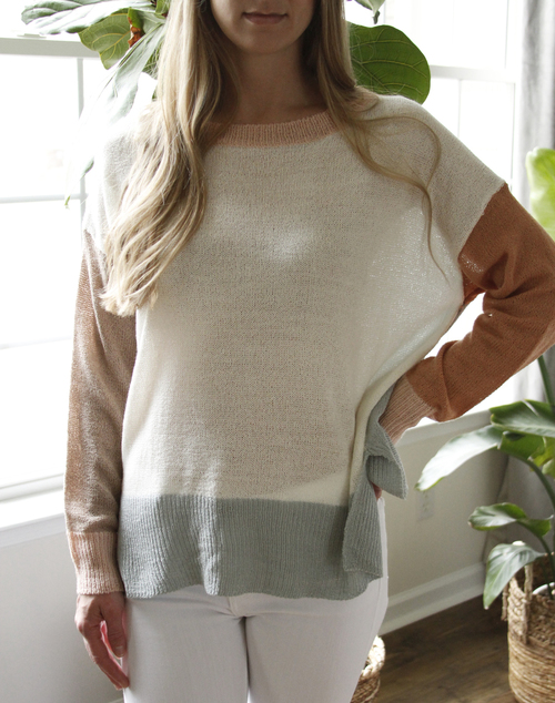Anna Colorblock Sweater