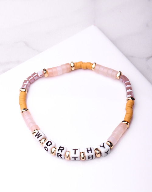 Stone Word Bracelet