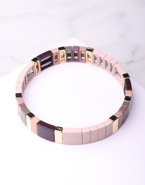 Block Bead Neutral Bracelet