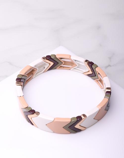 Laq. Neutral Chev Bracelet