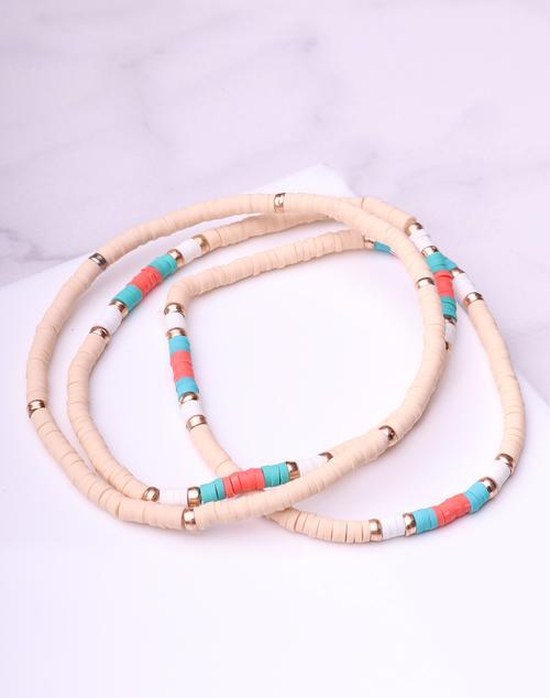 Tiny Disc Bracelet Set