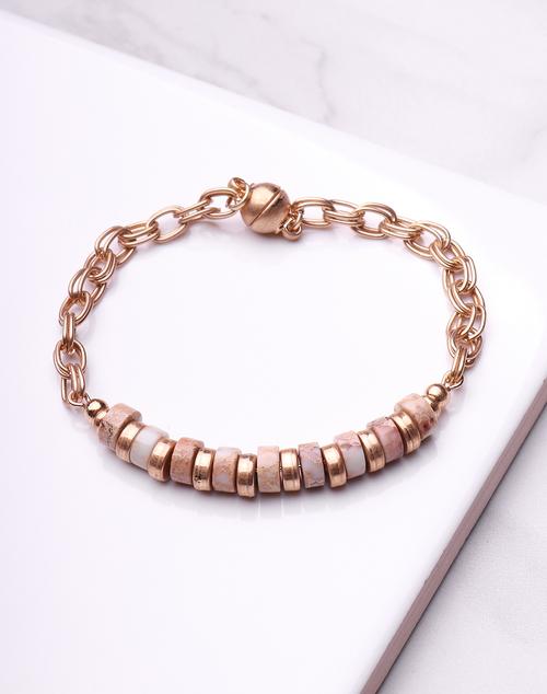 Stone Disc Magnetic Bracelet