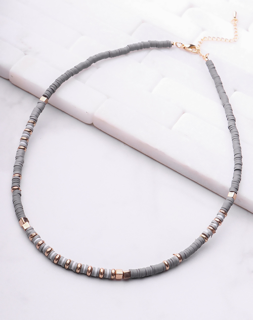 Small Chip Disc Necklace