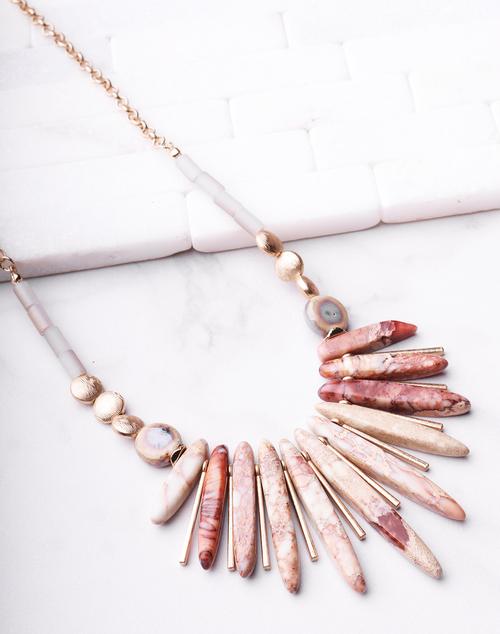 Natural Spike Ceramic Necklace