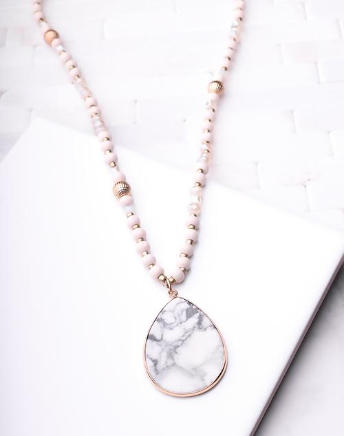 White Washed Pendant Necklace