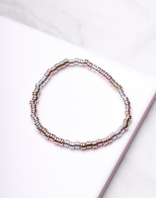 Tri Colored Stretch Bracelet