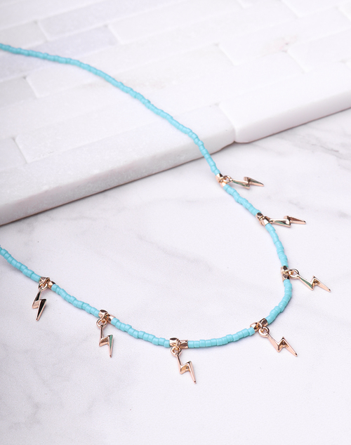 Turquoise Lightening Bolt Necklace