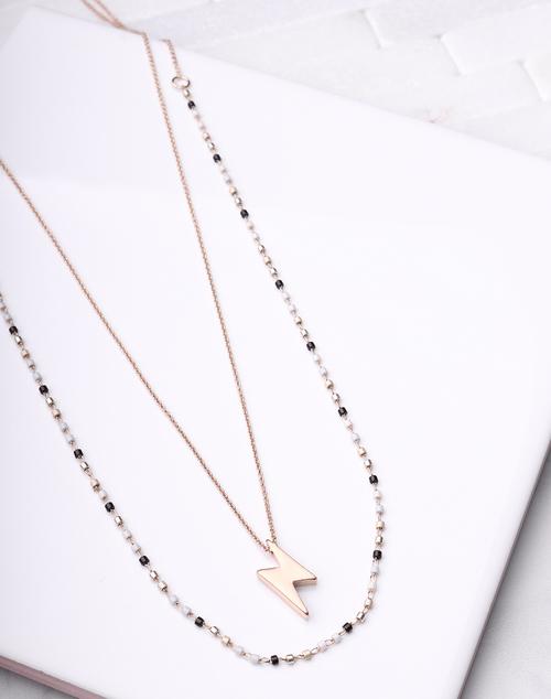 Lightening Bolt Layered Necklace