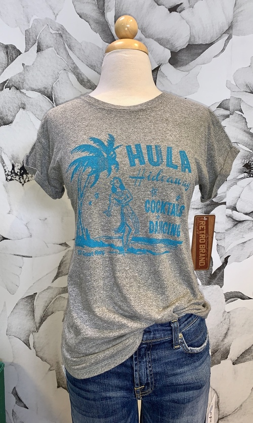 Hula Hideaway Short Sleeve Tee Heather Grey