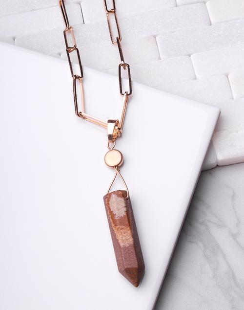 Stone Pendulum Necklace