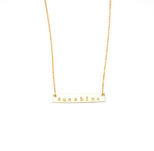 Sunshine Stamped Bar Necklace