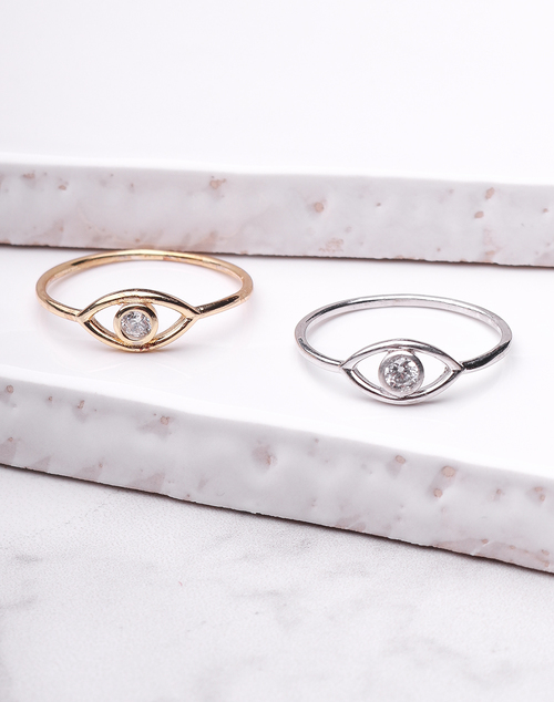 Simple Evil Eye Ring