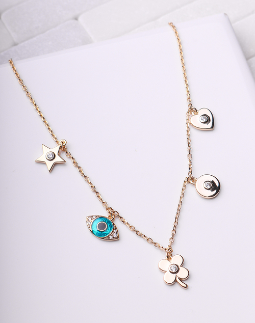 Lucky Laquer Charm Necklace