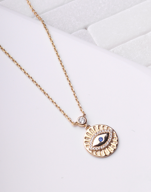 Eye & Lash Blue Necklace