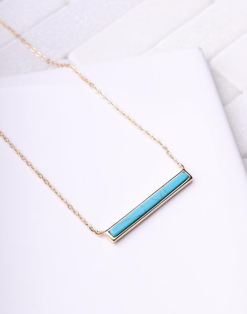 Turquosie Bar Necklace