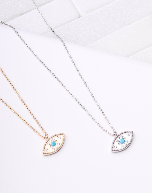 Eye Turquoise Pendant Necklace