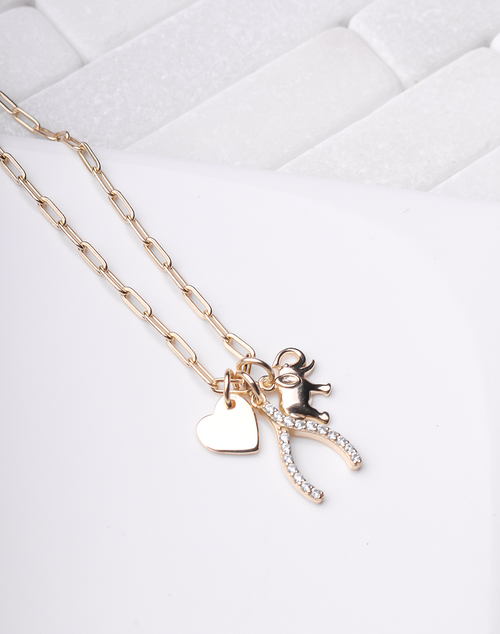 Lucky Charm Wide Link Necklace