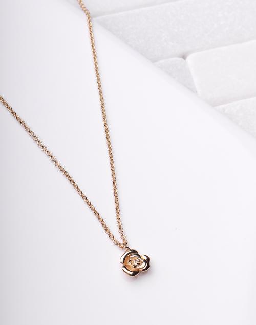 Tiny Rose Pendant Necklace