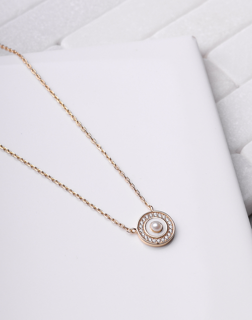 Ivory Pearl Eye Necklace