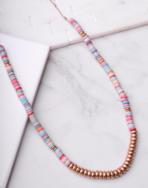 Multi Disc Long Necklace