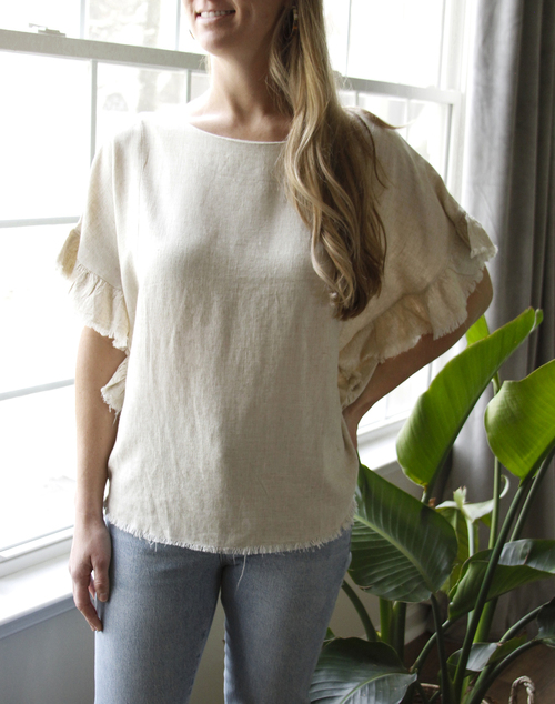 Libby Frayed Top