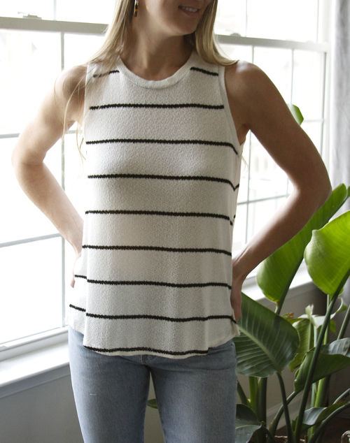 Thinly Striped Knit Tank