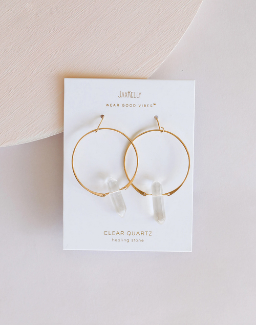 Clear Quartz Hoop