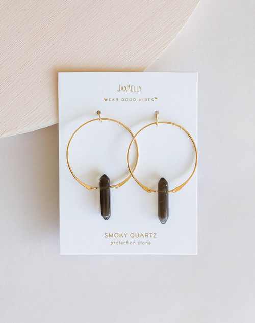 Smoky Quartz Hoop