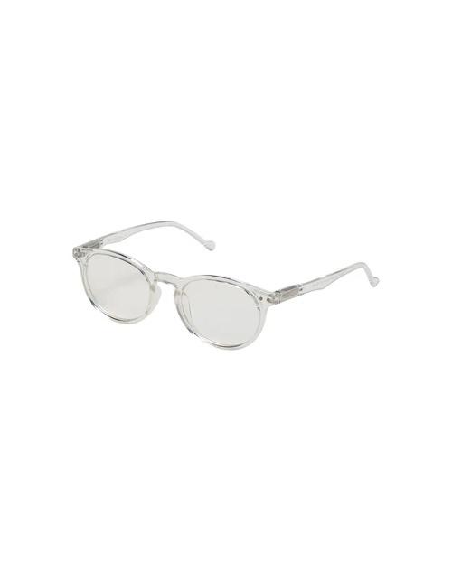 Blue Light Round Frame Glasses - Clear