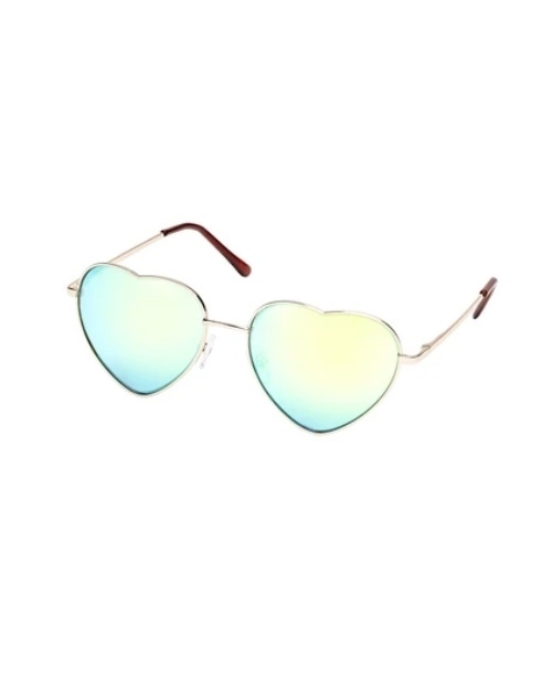 Heart Eyes Collection Gold Rose Gold Sunglasses