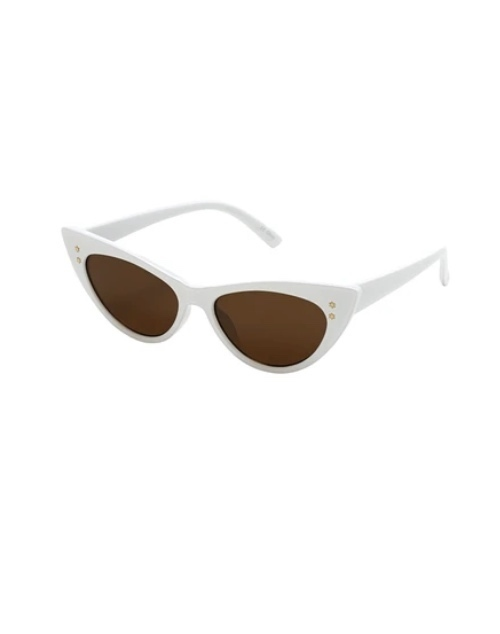 Old Hollywood Collection White Sunglasses