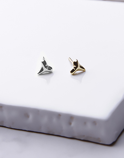 Tiny Shark Tooth Stud