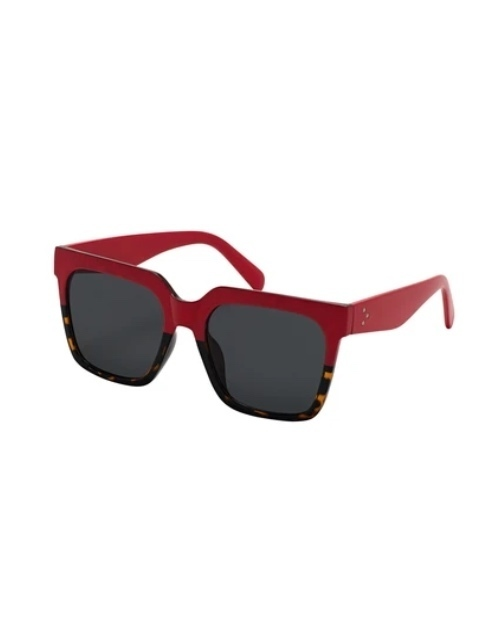 Rose Collection Two Tone Red/Tort Sunglasses