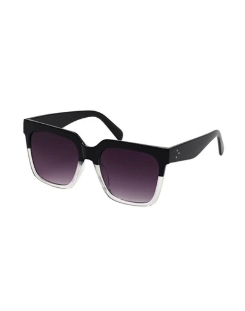 Rose Collection Two Tone Black/Clear Sunglasses