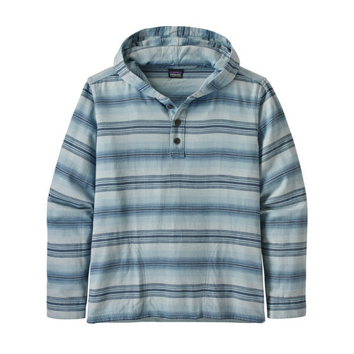Patagonia M Lightweight Fjord Flannel Hoody Rotation: Big Sky Blue