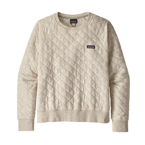 Patagonia W's Organic Cotton Quilt Crew Dyno White