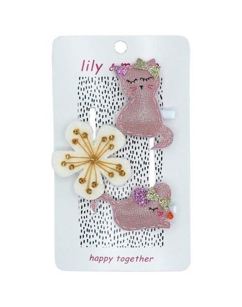 Kitty & Mouse Trio Hair Clip