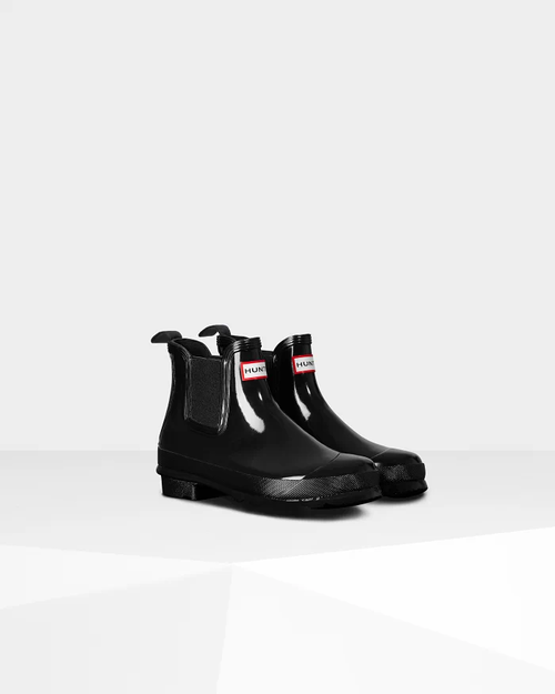 Hunter Original Gloss Chelsea Boot Black