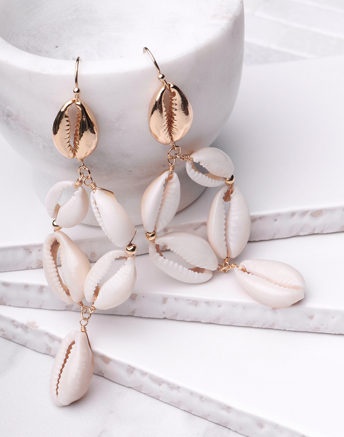 Cowry Shell Chandelier Dangle