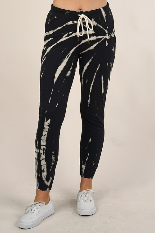 Tie Dye Butterfly Wash Sweat Pant Black/Natural