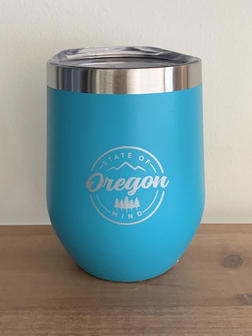 OR State of Mind Wine Tumbler Turquoise