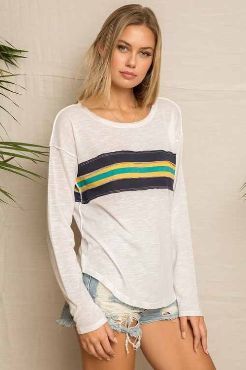 Vintage Stripe Knit Top