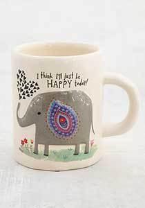 Embossed Elephant Mug