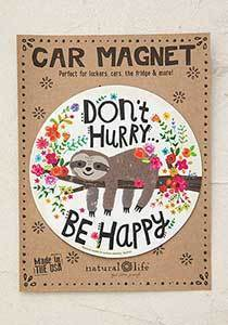 Advice from a Sloth Car Magnet