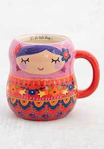 Folk Mug Nesting Doll